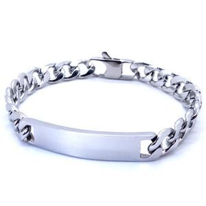 """100% en acier inoxydable Bracelet ID Hommes Rétro Bijoux T et CO Curb Cubain Chaîne 9 mm Largeur 8 """"Pouces"""