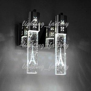 5 W LED Cristal Bolha Lâmpada de Parede Cilindro De Cristal Forma Coluna Sala de estar Lâmpada de Parede Espelho Luz RGB Quente Branco Lustre Luz WAH-280