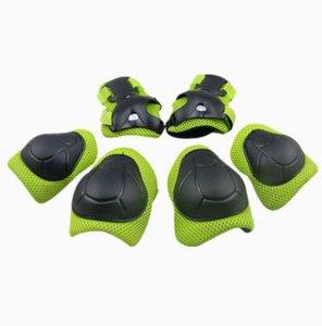 Enfants 6pcs / set Set de protection Patins genouillères coudières protection poignet protecteur pour le patinage Roller Scooter Vélo