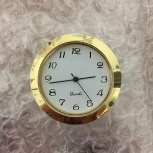 Золото 1 7/16 дюймов пластиковая вставка Часы Столпник Арабский циферблат Подготовка часы PC21S Movement