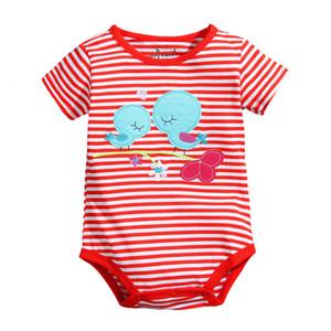 2017New chegada recém-nascido bodysuit bebê menino one-pieces romper macacão de manga curta macacão de algodão shortalls bebê em geral