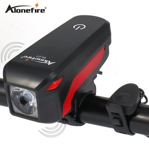 AloneFire Bike Light LED Torcia a LED con campana Luces Cycle Lamp Outdoor MTB su strada ciclismo faro Altoparlante per bicicletta Led Light