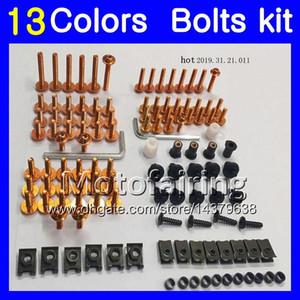 Kit de tornillo completo para tornillos de carenado para KAWASAKI NINJA ZX6R 07 08 ZX-6R ZX 6 R 07-08 ZX 6R ZX6R 2007 2008 07 Kit de tornillos de tuerca para tornillos 13Colors