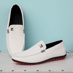 Men's Fashion Loafers Casual Shoes Comfortable Breathable Lazy Driving Shoes Slip on Men's Flats Loafers Male Loafers Moccasins 2A