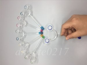 14cm Glass Oil Burner Double Burner glass pipes Smoking Tube water pipe for hookah glass bongs IN STOCK