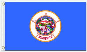 Minnesota ülke Bayrağı Birleşik Devletleri Amerikan Abd Devlet Afiş Uçan Tasarım 3x5 ft 100D Polyester Afişler