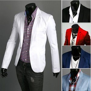 Fashion Blazer Men New Spring Autumn Clothing Candy Colors Blazer masculino Casual Slim Fit Wild terno Men's Suit Jacket