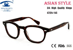 Wholesale- Asian People High Quality Johnny Depp Glass Eyewear Frames Men Vintage Round Frame Glasses Mens Retro Optical Frame Rx