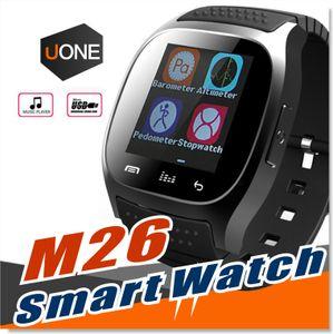 M26 SmartWatch Wirelss Bluetooth Smart İzle Telefon Bilezik Kamera Smartphone için Uzaktan Kumanda Anti-kayıp alarm Barometresi V8 A1 U8 izle