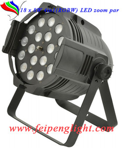 Presa di fabbrica di alta qualità feipenglight 18pcs zoom par18 * 8w quad-colore (RGBW) LED zoom par LED stage par luce 25 ° -75 ° angolo di fascio 4in1 par