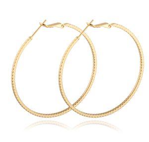 Fuente de la fábrica Precio bajo Pendientes de alta calidad 18K Amarillo / Blanco / Oro rosa Plateado Círculo delgado Pendientes Aros para mujeres