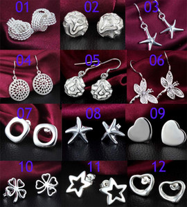 High Quality 925 Silver Earrings For Women Newest Fashion Jewelry Charm Stud Earrings Beautiful Christmas gift Earring Suppliers