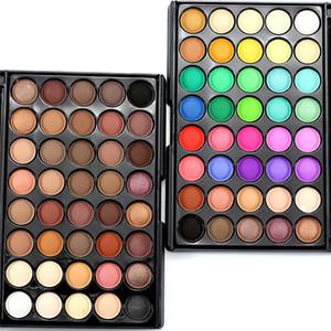 40 couleur palette de fard à paupières couleurs de la terre scintillant paillettes de la terre ombre à paupières puissance ensemble outil de maquillage cosmétique faire
