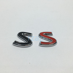 أسود أحمر معدني S شعار السيارات الحاجز الجانب شارة ملصق لإنفينيتي Q50 Q50L G37 G25 FX35 FX37