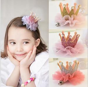 Niños baratos Tiaras pelo princesa corona diadema 2017 lindas niñas cabeza flor del bebé horquilla niños joyería