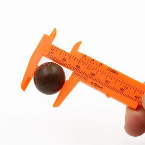 Mini Digital Caliper Jouer Man L'objet Vernier Paquimetro en plastique orange tarte Calibrador Portable de rey 80mm paquimetro