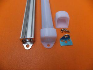 LED Şeritler için 2.5m / adet Ücretsiz Kargo Alüminyum Profil; Eloksallı Gümüş Taban CLEAR AND MILKY Kapak, Kapaklar, kabinin altındaki led ışık