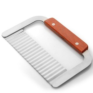 1 قطعة الفولاذ الصلب كبير التجعيد قطع سكين رقاقة البطاطس القاطع مع شفرة متموجة الفرنسية فراي كتر kx 157