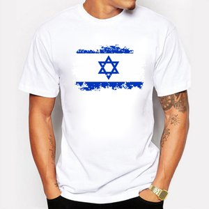 Israel National Flag Printed Tshirts For Men Summer Cotton Casual T-shirts Nostalgic But Fashion Style Swag Tee Tops