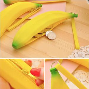 Silikon Banana kleinen Geldbeutel Banana Münze Bleistift-Kasten-Mappen-Taschentaschengeldbeutel Schlüssel Keychain Kosmetik Schmuck Geschenke Wasserdicht