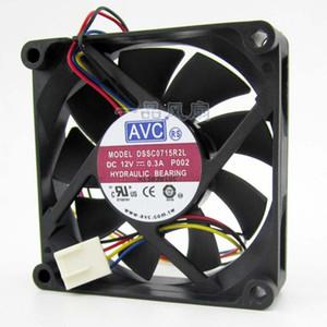 AVC DSSC0715R2L, P002 DC 12V 0.3A 4 fils Connecteur à 4 broches 100mm 70x70x15mm Serveur Ventilateur de refroidissement carré