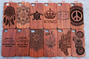 Casos de madeira de madeira gravado laser do telefone da caixa feita sob encomenda para Iphone 5s 6 6s mais 7 7plus Samsung Galaxy S5 S6 S7 Edege