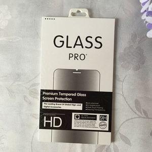 Fashion Retail Box Package Paper + Plastic Box Packing per Premium Pellicola proteggi schermo in vetro temperato + Hang Hole 2018 New Bag