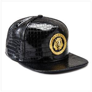 Egitto stile fresco faraone uomo hip boy in pelle cap-hop punk moda flat-flat-flammed snapback cappello baseball nuovo oro PU donna cappelli nliom