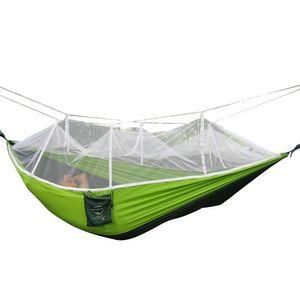 Mosquito Net Hammock Double Champs de camping en plein air personnel 260 * 140cm Famille Camping Tents Ventes