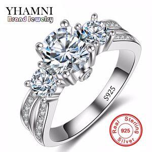 Güzel Takı Yüzük Gümüş Gerçek 925 Ayar Gümüş Alyans Set 1 Karat Sona CZ Diamant Nişan Yüzükler Kadınlar için RX036