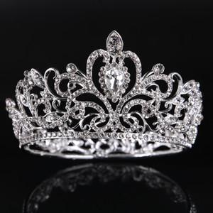Moda squisita goccia d'acqua corona nuziale di cristallo 2019 per le donne spettacolo Prom Diademi capelli gioielli accessori copricapo