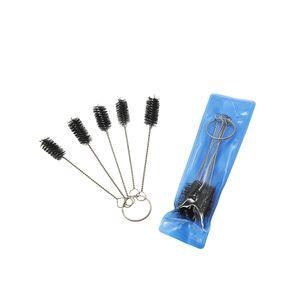 Piccola Spazzola per scovolino acqua con 5 brushs Shisha Narghilè fumare scovolino strumenti di metallo scovolini legno