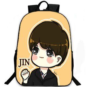 Ким Сок Цзинь рюкзак Bts рюкзак Bangtan мальчиков школьный пуленепробиваемый скауты рюкзак Спорт мешок школы Открытый день пакет