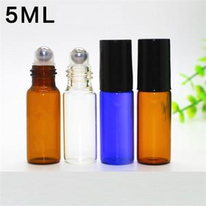 Nouveau Portable 5 ml bouteille de verre ROLL parfum THICK bouteille en verre ESSENTIAL OIL GLASS bouteille à billes B1141