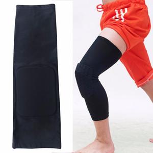 All'ingrosso di alta qualità Knie pastiglie Ondersteuning ademend sport di pallacanestro ginocchiere gambo a nido d'ape rilievo bumper ginocchio stretto lasciare guardia gamba