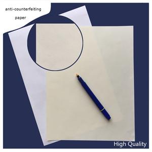 200 hojas de papel printinng Contrato 75% algodón 25% lino pase venta caliente papel de prueba de falsificación pluma de color blanco marfil de alta calidad en los Estados Unidos