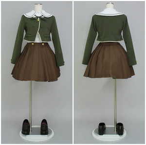 Dangan Ronpa Fujisaki Chihiro uniforme das mulheres trajes cosplay halloween cosumes