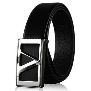 Men's leisure belt, smooth buckle, leather belt, men's leather, needle buckle, belt wholesale