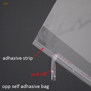 2018 판매 선물 부대 1000pcs 명확한 Resealable Bopp / poly / Cellophane 부대 3x17cm 투명한 Opp 선물 플라스틱 포장 자동 접착 물개