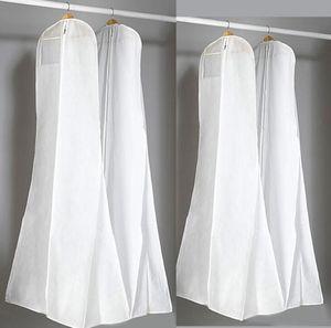 Große Hochzeitskleid Kleid Taschen 180 cm Hohe Qualität Weiß Staubbeutel Lange Kleidungsstück Abdeckung Reisespeicher Staubschutz Heißer Verkauf HT115