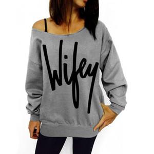 Pour filmer Casual New 2016 Wibey lettre automne Sweat-shirt femme vêtements patchwork slim lâche femmes hoodies sweat-shirts pull manteau Outwear