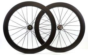 700C Karbon fiber jantlar 60mm derinlik disk fren tekerlek 25mm genişlik kattığı yol bisikleti tekerlek ile 791/792 hub