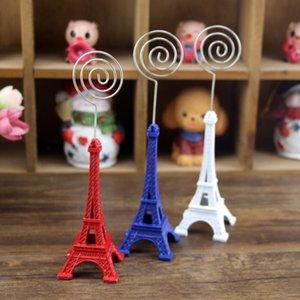 2018 Venda de Arquivos de Cartão de Visita da Torre Eiffel Emblema Titular do Cartão de Atacado para o Presente Artesanato Foto Clipe Pasta de Notas Memo titular