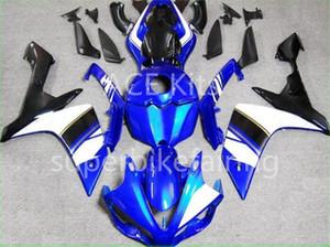 3 cadeaux complet carénages pour Yamaha YZF 1000 R1 2007 2008 YZF Injection Plastique Pierre Moto Carénage Kit Noir Bleu Blanc VV16