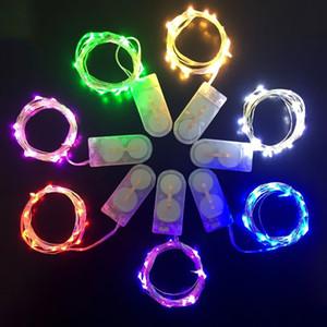 LED String Işık 1M 2M 3M Küçük Pil LED Işık Gümüş Tel Bakır Dize Işık için Xmas Cadılar Bayramı Partisi Decor İşletilen