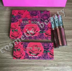 El nuevo set de maquillaje más reciente ColourPop Fem Rosa Set 12 colores Sombra de ojos +3 color Resaltador +3 color Barra de labios mate en stock