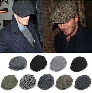 les nouveaux arrivants adultes Newsboy Caps Chapeau tout le chapeau casquette chaud bérets match d'hiver plus de 25 couleurs