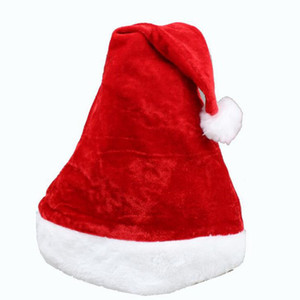 Christmas Hat Adult kids Christmas Party Cap Red Plush Santa hat For Costume xmas boxing day Decoration gift
