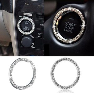 2017 Auto SUV Bling accessori decorativi 40 mm di diametro Pulsante Start Interruttore argento Diamond Ring Hot spedizione gratuita