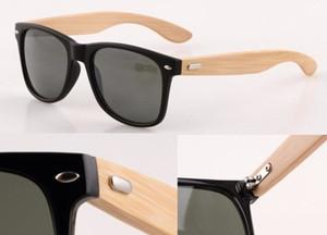 Verano radiación de los hombres gafas de sol de bambú ciclismo gafas conducción gafas de madera mujer moso bambú conducción gafas de sol 7 colores